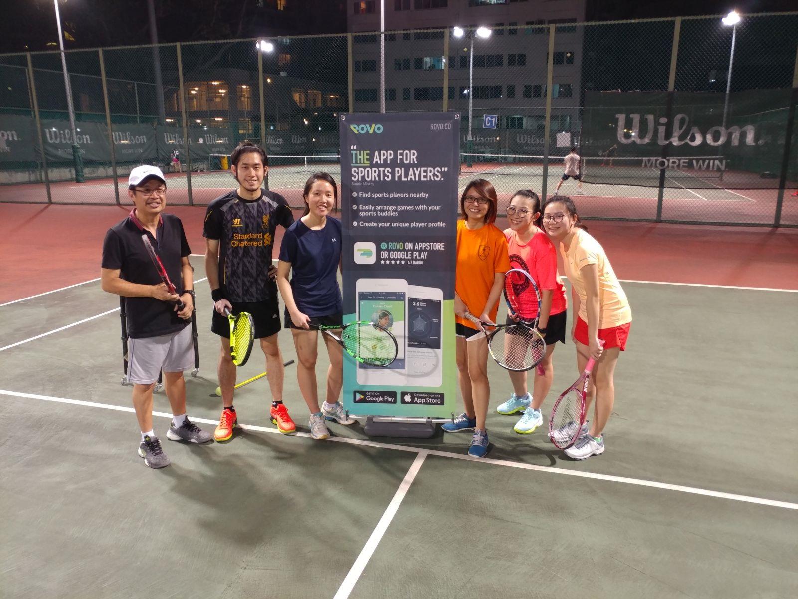 ROVO tennis clinic 2017